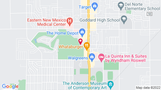 Candlewood Suites Roswell New Mexico, an IHG Hotel Map
