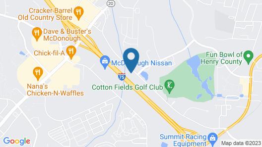 WoodSpring Suites Atlanta McDonough Map