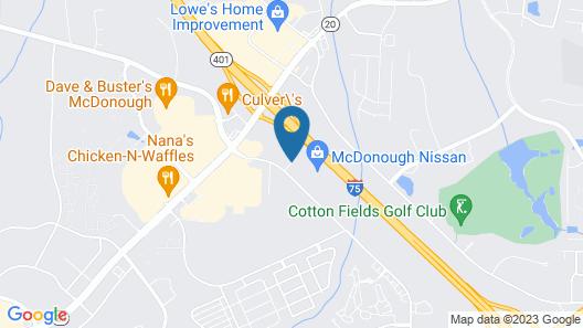 Hampton Inn Atlanta McDonough Map