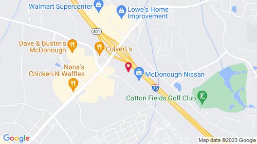 Tru by Hilton McDonough Map