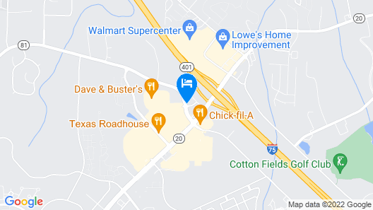 Quality Inn McDonough Atlanta South Map
