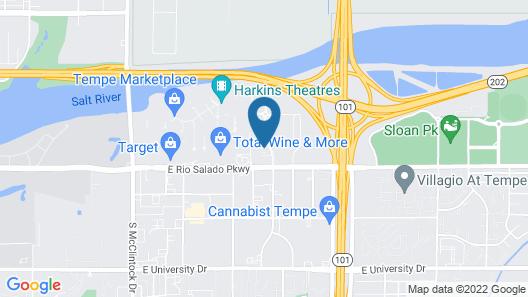 Homewood Suites by Hilton Phoenix Tempe ASU Area Map