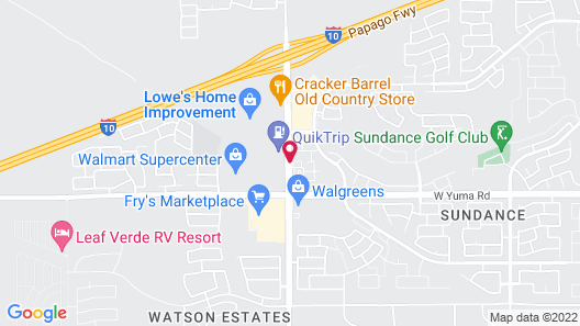 My Place Hotel Phoenix West Buckeye AZ Map