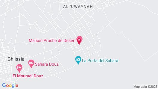 Hébergement Proche de Désert à Douz Map