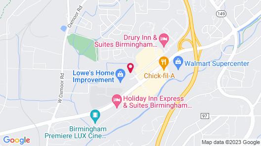 Hilton Garden Inn Birmingham/Lakeshore Drive Map