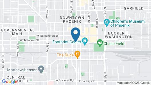 Courtyard Phoenix Downtown Map