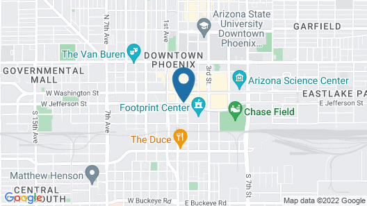 Kimpton Hotel Palomar Phoenix Cityscape Map
