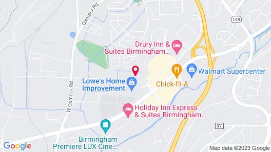 Suburban Extended Stay Hotel Birmingham Homewood I-65 Map