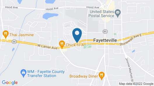 Hampton Inn Atlanta/Fayetteville Map