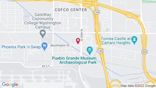 Crowne Plaza Phoenix - Phx Airport, an IHG Hotel Map