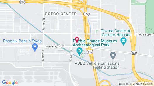 Aloft Phoenix Airport Map