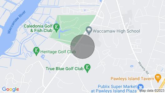 Super 3rd Floor Condo True Blue Golf/tennis Accessible Winter Rental 9I Map