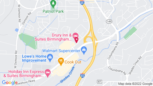 Drury Inn & Suites Birmingham Lakeshore Drive Map