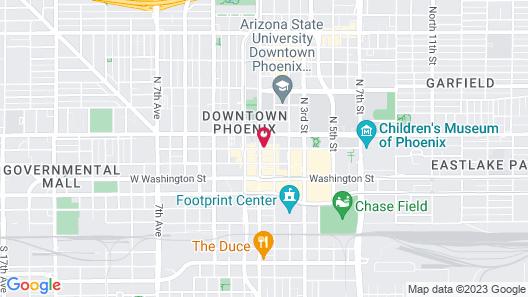 Hilton Garden Inn Phoenix Downtown Map