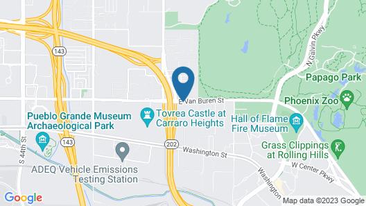 Motel 6 Phoenix, AZ - East Map