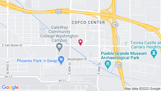 Howard Johnson by Wyndham Phoenix Airport/Downtown Area Map