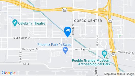 Hilton Garden Inn Phoenix Airport North Map
