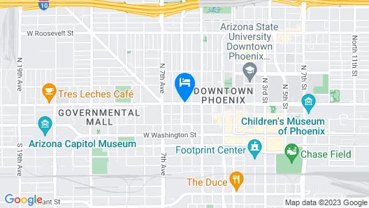 SureStay Hotel by Best Western Phoenix Downtown Map