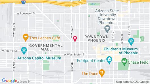 Travelodge by Wyndham Phoenix Downtown Map