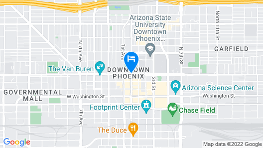 The Westin Phoenix Downtown Map