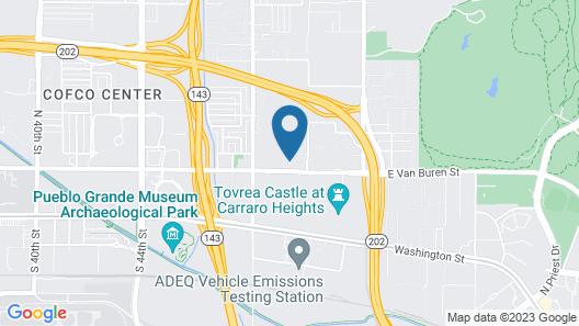 The Modern Phoenix Getaway + Resort-Style Amenities Map