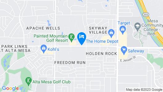 Westgate Painted Mountain Golf Resort Map