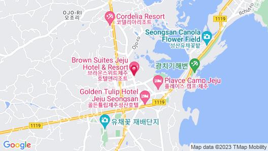 Brown Suites Jeju Hotel & Resort Map