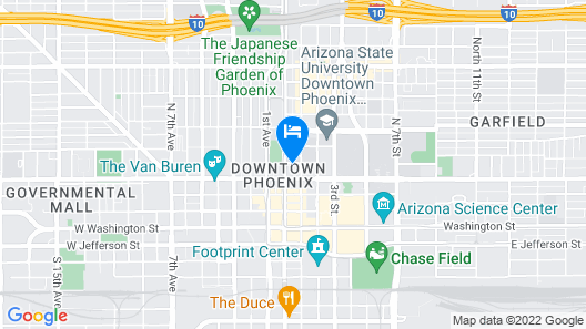 Hampton Inn & Suites Phoenix Downtown Map
