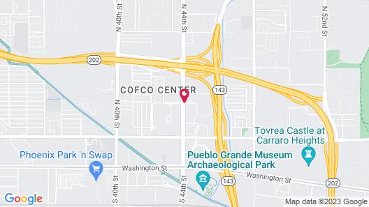 Hampton Inn Phoenix Airport North Map