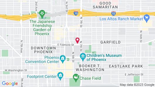 Best Western Downtown Phoenix Map