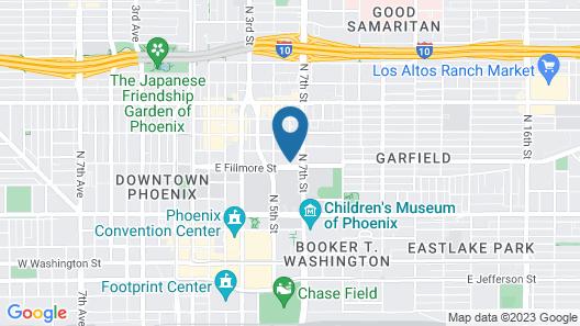 Holiday Inn Express Hotel & Suites Phoenix Downtown-Ballpark Map