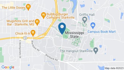 Comfort Suites Starkville Map
