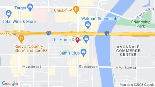 Super 8 by Wyndham Goodyear/Phoenix Area Map