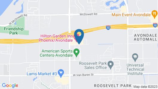 Homewood Suites Phoenix Avondale Map