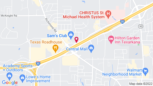 Comfort Suites Texarkana Map