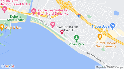 Beachfront Inn and Suites at Dana Point Map
