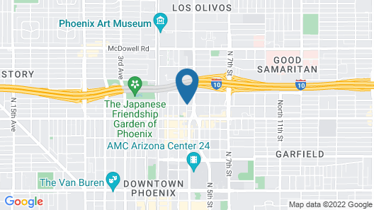 Cambria Hotel Downtown Phoenix Convention Center Map
