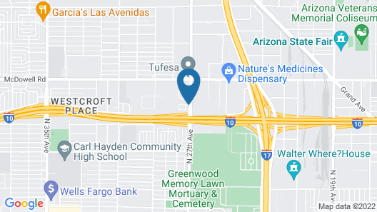 Comfort Inn West Phoenix at 27th Ave and I-I0 Map