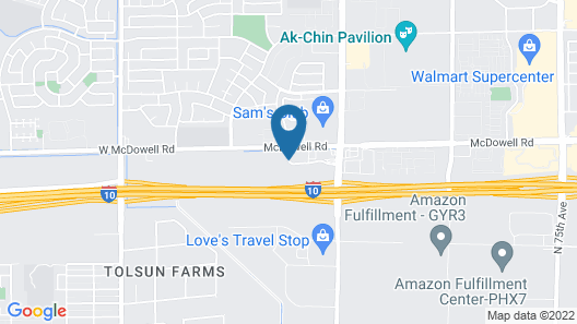 A Victory Inn Tolleson Map