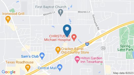 Hampton Inn & Suites Texarkana Map