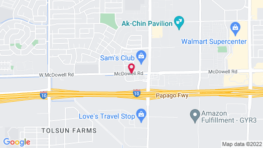 Best Western Tolleson Hotel Map