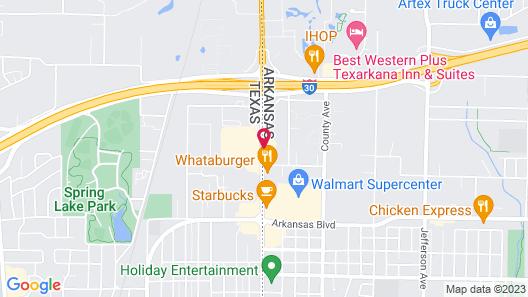 Motel 6 Texarkana, AR Map