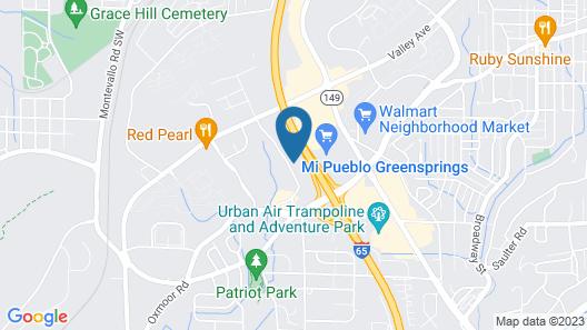 Quality Inn Homewood Birmingham I-65 Map