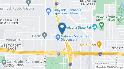 Knights Inn Phoenix at N Black Canyon Hwy Map