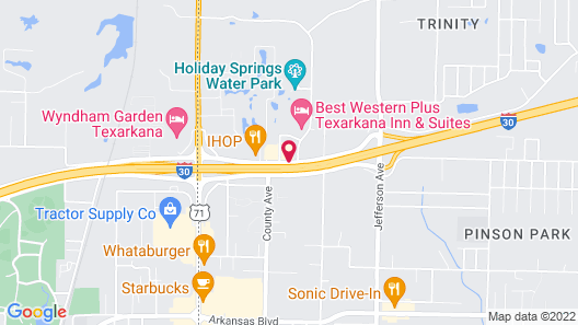 Best Western Plus Texarkana Inn & Suites Map