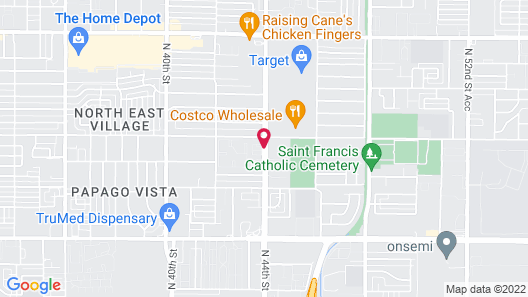 Extended Stay America Phoenix - Airport - E. Oak St. Map