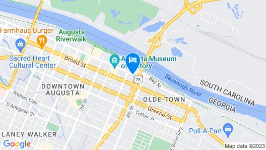 Americas Best Value Inn Augusta Historic Downtown Map