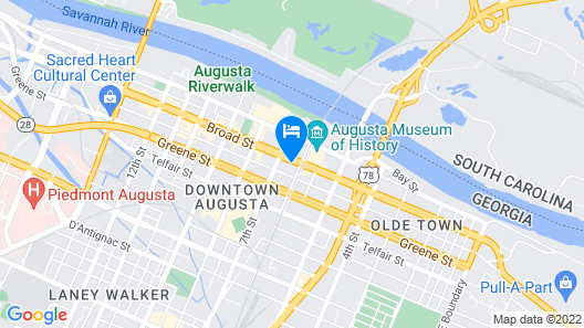 Ramada Hotel & Conf Center by Wyndham Augusta Downtown Map