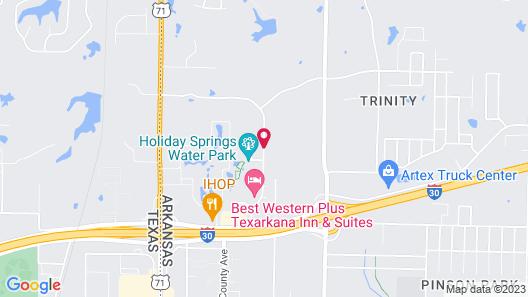 Hampton Inn Texarkana Arkansas Map