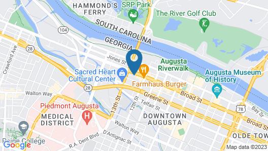 Hyatt House Augusta Downtown Map
